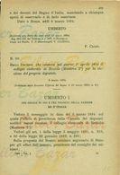 BOZZOLO- DECRETO UMBERTO I° - 1894 - POLITICA- ELEZIONI DEPUTATO - Decreti & Leggi