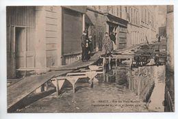 MEAUX (77) - INONDATION DES 25,26, ET 27 JANVIER 1910 - RUE DES VIEUX MOULINS - Meaux
