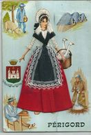 Perigord  BELLE  FILLE CARTE  BRODEE - Brodées