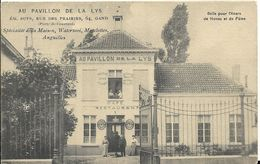 Au Pavillon De La Lys, Gebruikt, 29 Januari 1909 - Gent