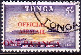 TONGA 1967 SG O21 1p On 5sh Used Official Airmail - Tonga (...-1970)