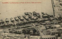 ALICANTE, LOS BALNEARIOS Y EL PASEO DE GOMIZ, VISTA PANORAMICA - Alicante