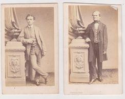 26392 Deux 2 Photo Carte Visite - Photographe Bureau 44 Palais Royal Paris France - Jeune Homme, Vieil Homme - Personnes Anonymes