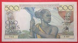 N°54 1 BILLET DE 500 Frs DE L AOF DU 29 12 1950 ( NOTESHOBBY ) - West African States