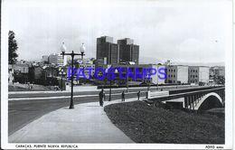 87146 VENEZUELA CARACAS VIEW BRIDGE NEW REPUBLIC CIRCULATED TO ITALY POSTAL POSTCARD - Venezuela