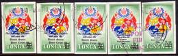 TONGA 1967 SG O26-28 + O33-34 Two Compl.sets Used Official - Tonga (...-1970)