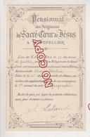 Au Plus Rapide Montpellier Hérault Pensionnat Sacré Coeur De Jésus 1 Er Accessit Géographie Edmée B.. 21 Juillet 1903 - Diploma & School Reports