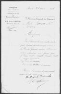 Lettre Ministère Des Finances Basses-Pyrénées PAU 1858 Receveur Général Basterrèche - Documents Historiques