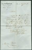 Lettre Ministère Des Finances Basses-Pyrénées PAU 1858 Receveur Général Basterrèche - Historical Documents