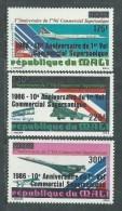MALI  P. A.  N° 520 / 22 XX  10ème Anniversaire Du 1er Vol Commercial Supersonnique, Les 3 Valeurs Sans Charnière, TB - Malí (1959-...)