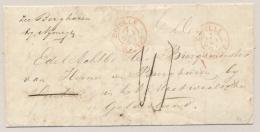 Nederland - 1867 - Onduidelijk Geadresseerd Incompleet Vouwbriefje, Uiteindelijk Afgeschreven / Tiel - ...-1852 Voorlopers