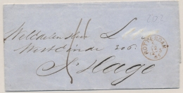 Nederland - 1865 - Omslag Van Rotterdam Naar (Proefstempel)  'sGravenhage - Nederland