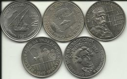 5 Coins Of 100 Escudos - AU - See Photos - Excellent Price. - Portugal
