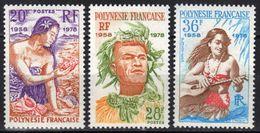 Polynésie N° 121 - 123 ** - Ungebraucht