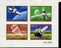 Ungarn Kleinbogen 2642 - 2645 B Luna 16 ** Postfrisch MNH Neuf - Blocks & Kleinbögen