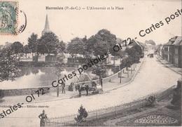 CPA - Pas De Calais > Hermies - L'abreuvoir Et La Place - Animée - Autres Communes