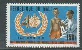 Mali  N° 551 XX 40ème Anniversaire De L'O.M.S. Sans Charnière, TB - Malí (1959-...)