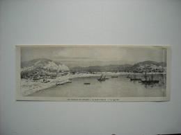 GRAVURE 1884. LES FRANCAIS EN AFRIQUE. LA RADE D'OBOCK. - Stiche & Gravuren