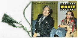 CALENDARIETTO MOVIE TOGANZZI MUTI SORDI VITTI NEWMAN CHAPLIN LEROY BOUCHET ATTORE ATTRICE ANNO 1979 - Calendari