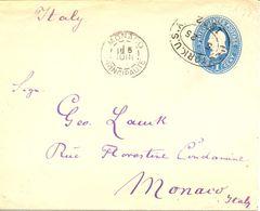 ETATS-UNIS - 1892- Entier Postal Pour Monaco - Entiers Postaux