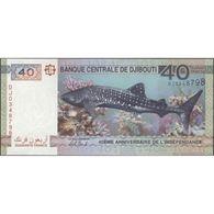 TWN - DJIBOUTI NEW - 40 Francs 2017 Prefix DJ UNC - Djibouti