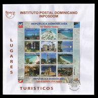 DOMINICAN REPUBLIC UPAEP TOURIST SITES FDC 2017 NEW - Dominicaine (République)