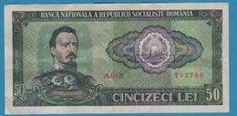 ROMANIA 50 Lei Alexandru Ioan Cuza 1966  Serie A.0028   P# 96 - Roumanie