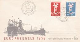 N° 691/692 EUROPA PAYS BAS FDC - 1958 - FDC