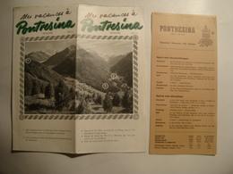 MES VACANCES À PONTRESINA. 1820 METRES - SUISSE, SWITZERLAND, GRAUBÜNDEN, 1949. - Dépliants Touristiques