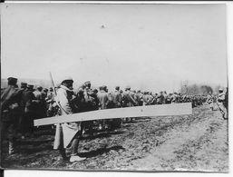 1917 Offensive De L'aisne Chemin Colonne De Prisonniers Allemands Escortés Par Des Soldats Français 1 Photo Ww1 1wk - Guerre, Militaire