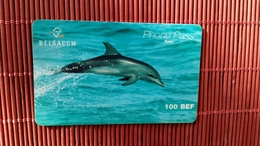 Dolphin Phone Pass 100 BEF Used 2 Scans Rare - Cartes GSM, Recharges & Prépayées