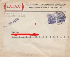 "11585-LETTERA INTESTATA ""SOC. AN. ITALIANA AUTOTRASPORTI COSTRUZIONI""-DIRE DAUA(HARAR)-1948 - Publicités"