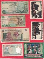 Pays Du Monde 10 Billets état Voir Scan  Lot N °414 (Allemagne 3 Billets En SUP) - Coins & Banknotes