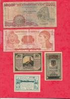 Pays Du Monde 10 Billets état Voir Scan  Lot N °415 (Allemagne 3 Billets En SUP) - Coins & Banknotes