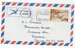 1982 ZIMBABWE COVER SLOGAN Pmk  BULAWAYO TRADE FAIR  Giraffe Stamps - Zimbabwe (1980-...)