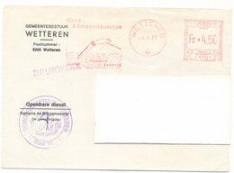 Omslag Gemeentebestuur Wetteren 1977 - Olympisch Zwembad - Entiers Postaux