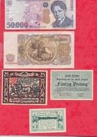 Pays Du Monde 10 Billets état Voir Scan  Lot N °417 (Allemagne 3 Billets En SUP) - Coins & Banknotes