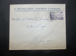 Luxembourg: 1954 Cover To Paris (#JA9) - Luxembourg