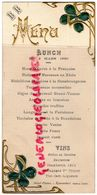 87- EYMOUTIERS-RARE MENU GAUFRE-DUTHEILLAUMAS-HOTEL PINTOU -LUNCH 2 MARS 1920- HUITRES MARENNES AU XERES-CHAMBERTIN 1911 - Menus