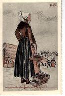 29 - PLOUGASTEL - T.Belle Vue Couleur D'une Marchande De Fraises De Jorge Morin ( Types/costumes Bretons ) - Plougastel-Daoulas