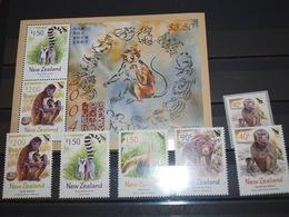 Nouvelle Zélande Singes Primates Neufs Sans Charnière - Timbres