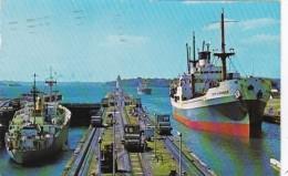 Panama Canal Ships Passing Through Gatun Locks 1991 - Panama