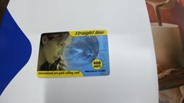 Israel-straight Line-international Prepiad Card Plastic-(400units)-(31.12.2002)-mint+1card Prepiad Free - Israel