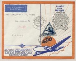 Nederlands Indië - 1937 - 500e Vlucht Van Bandoeng Naar Vught / Nederland - Nederlands-Indië
