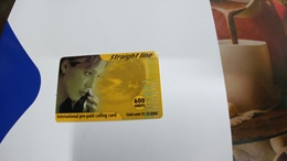 Israel-straight Line-international Prepiad Card Plastic-(600units)-(31.12.2002)-mint+1card Prepiad Free - Israel