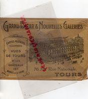 37- TOURS- RARE ENVELOPPE GRAND BAZAR & NOUVELLES GALERIES-CARTES POSTALES-76 -78 RUE NATIONALE - Petits Métiers