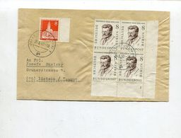 Berlin / 1960 / Mi. 164 ER-4er-Block Mit Formnummer U.a. A. Bf. O Frankfurt (02925) - Berlin (West)