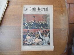 LE PETIT JOURNAL DU 11 NOVEMBRE 1893 LES ADIEUX DE L'AMIRAL AVELLAN HURRAH! POUR LA FRANCE,LE FEU D'ARTIFICE VU DE LA TO - 1850 - 1899