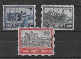 Serie De Ocupación Alemana De Polonia Nº Michel 63/65 (o). - Occupation 1938-45
