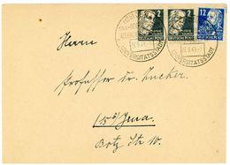 Nr. 212 + 215 Ortsbrief JENA 1949 Mit Sonderstempel - Sowjetische Zone (SBZ)